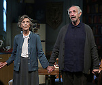 """Eileen Atkins and Jonathan Pryce during the Broadway Opening Night Curtain Call for the MTC  production of  """"The Height Of The Storm"""" at Samuel J. Friedman Theatre on September 24, 2019 in New York City."""