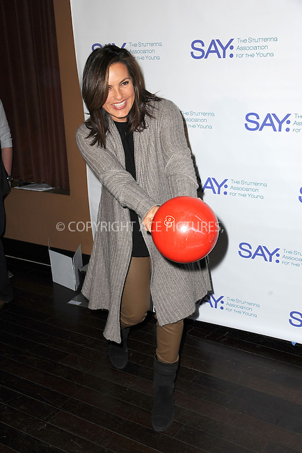 WWW.ACEPIXS.COM<br /> January 12, 2015 New York City<br /> <br /> Mariska Hargitay attends the Third Annual Paul Rudd All-Star Bowling Benefit for The Stuttering Association for the Young (SAY) at Lucky Strike Lanes &amp; Lounge on January 12, 2015 in New York City.<br /> <br /> Please byline: Kristin Callahan/AcePictures<br /> <br /> ACEPIXS.COM<br /> <br /> Tel: (212) 243 8787 or (646) 769 0430<br /> e-mail: info@acepixs.com<br /> web: http://www.acepixs.com