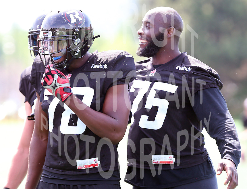 Cory Henry Jonathan Williams Ottawa RedBlacks training camp 2015. Photo Scott Grant