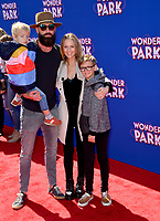 LOS ANGELES, CA. March 10, 2019: A.J. Cook, Nathan Andersen, Phoenix Andersen &amp; Mekhai Andersen at the premiere of &quot;Wonder Park&quot; at the Regency Village Theatre.<br /> Picture: Paul Smith/Featureflash