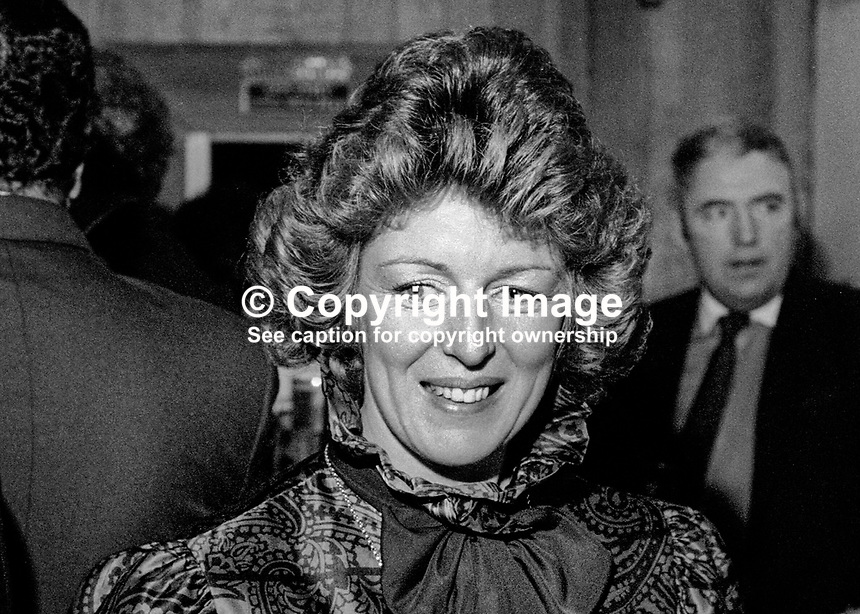 Sally Gardiner, public relations officer, Guinness (NI) Ltd, Belfast, February, 1986. 19860207SG<br /> <br /> Copyright Image from Victor Patterson, 54 Dorchester Park, <br /> Belfast, UK, BT9 6RJ<br /> <br /> t1: +44 28 9066 1296 (from Rep of Ireland 048 9066 1296)<br /> t2: +44 28 9002 2446 (from Rep of Ireland 048 9002 2446)<br /> m: +44 7802 353836<br /> <br /> e1: victorpatterson@me.com<br /> e2: victorpatterson@gmail.com<br /> <br /> www.victorpatterson.com<br /> <br /> Please see my Terms and Conditions of Use at VICTORPATTERSON.COM. It is IMPORTANT that you familiarise yourself with them.<br /> <br /> Images used on the Internet must be visibly watermarked i.e. &copy;VICTORPATTERSON.COM within the body of the image and copyright metadata must not be deleted. Images used on the Internet have a size restriction of 4kbs and are chargeable at the then current NUJ rates.<br /> <br /> This image is only available for the use of the download recipient i.e. television station, newspaper, magazine, book publisher, etc, and must not be passed on to any third party. It is also downloaded on condition that each and every usage is notified within 7 days to victorpatterson@me.com<br /> <br /> The right of Victor Patterson to be identified as the author is asserted in accordance with The Copyright Designs And Patents Act (1988).