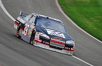 Oct. 11, 2009; Fontana, CA, USA; NASCAR Sprint Cup Series driver Ryan Newman during the Pepsi 500 at Auto Club Speedway. Mandatory Credit: Mark J. Rebilas-