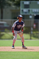 Glenallen Hill Jr during the WWBA World Championship at the Roger Dean Complex on October 18, 2018 in Jupiter, Florida.  Glenallen Hill Jr is a shortstop from Santa Cruz, California who attends Santa Cruz High School and is committed to Arizona State.  (Mike Janes/Four Seam Images)