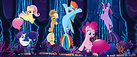 My Little Pony: The Movie (2017)<br /> From L to R: Fluttershy (Andrea Libman), Rarity (Tabitha St. Germain), Applejack (Ashleigh Ball), Rainbow Dash (Ashleigh Ball), Pinkie Pie (Andrea Libman) and Twilight Sparkle (Tara Strong) <br /> *Filmstill - Editorial Use Only*<br /> CAP/FB<br /> Image supplied by Capital Pictures