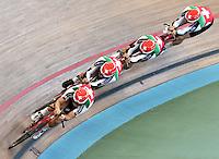 CALI – COLOMBIA – 15-02-2017: Equipo femenino de Suiza, durante entreno en el Velodromo Alcides Nieto Patiño, sede de la Copa Mundo UCI de Pista de Cali 2017. / Women's Team Switzerland, during a training sesión at the Alcides Nieto Patiño Velodrome, home of the Cali Track World Cup 2017 UCI. Photo: VizzorImage / Luis Ramirez / Staff.
