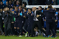 Reading manager Jaap Stam and his coaching staff celebrate at the final whistle   <br /> <br /> <br /> Photographer Craig Mercer/CameraSport<br /> <br /> The EFL Sky Bet Championship Play-Off Semi Final Second Leg - Reading v Fulham - Tuesday May 16th 2017 - Madejski Stadium - Reading <br /> <br /> World Copyright &copy; 2017 CameraSport. All rights reserved. 43 Linden Ave. Countesthorpe. Leicester. England. LE8 5PG - Tel: +44 (0) 116 277 4147 - admin@camerasport.com - www.camerasport.com