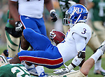 Kansas Jayhawks running back Tony Pierson (3) in action during the game between the Kansas Jayhawks and the Baylor Bears at the Floyd Casey Stadium in Waco, Texas. Baylor leads Kansas 20 to 14 at halftime....
