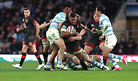 England's Nathan Hughes in action during todays match<br /> <br /> Photographer Rachel Holborn/CameraSport<br /> <br /> International Rugby Union Friendly - Old Mutual Wealth Series Autumn Internationals 2017 - England v Argentina - Saturday 11th November 2017 - Twickenham Stadium - London<br /> <br /> World Copyright &copy; 2017 CameraSport. All rights reserved. 43 Linden Ave. Countesthorpe. Leicester. England. LE8 5PG - Tel: +44 (0) 116 277 4147 - admin@camerasport.com - www.camerasport.com