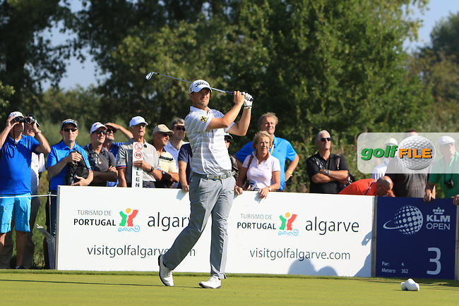 Bernd Wiesberger (AUT) on the 3rd tee during Round 1 of the 2016 KLM Open at the Dutch Golf Club at Spijk in The Netherlands on Thursday 08/09/16.<br /> Picture: Thos Caffrey | Golffile