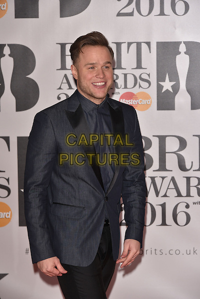 LONDON, ENGLAND - FEBRUARY 24: Olly Murs attends the BRIT Awards 2016 at The O2 Arena on February 24, 2016 in London, England<br /> CAP/PL<br /> &copy;Phil Loftus/Capital Pictures