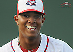 Infielder Xander Bogaerts (23) of the Greenville Drive, Class A affiliate of the Boston Red Sox, prior to a game against the Hickory Crawdads on July 1, 2011, at Fluor Field at the West End in Greenville, South Carolina. (Tom Priddy/Four Seam Images)