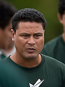 Manurewa coach George Leaupepe. Pat Walsh memorial pre-season rugby game between Manurewa & Waiuku played at Mountfort Park, Manurewa on 5th April, 2008. Waiuku led 12 - 8 at halftime, though Manurewa went on to win 30 - 23.