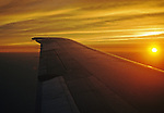 View of a Sunset from 30,000 + feet from commercial jet inbound to Newark. Flight originated from Atlanta.