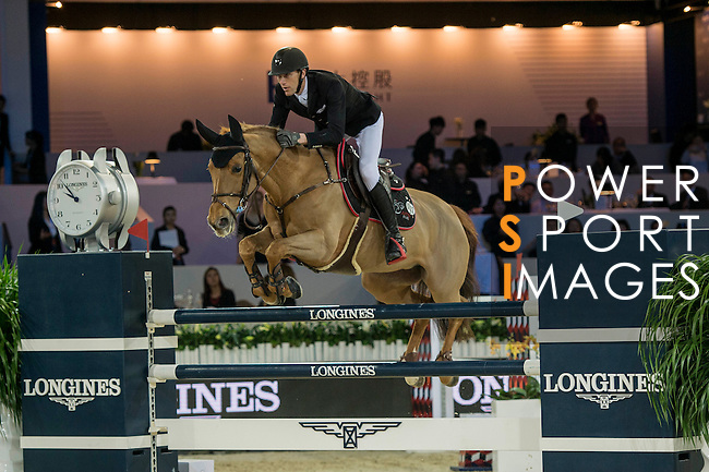 Kevin Staut of France riding Ayade de Septon et HDC during the Hong Kong Jockey Club Trophy competition, part of the Longines Masters of Hong Kong on 10 February 2017 at the Asia World Expo in Hong Kong, China. Photo by Marcio Rodrigo Machado / Power Sport Images