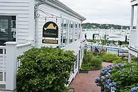 A view of the Harborside Inn in Edgartown, Martha's Vineyard, Massachusetts, USA.