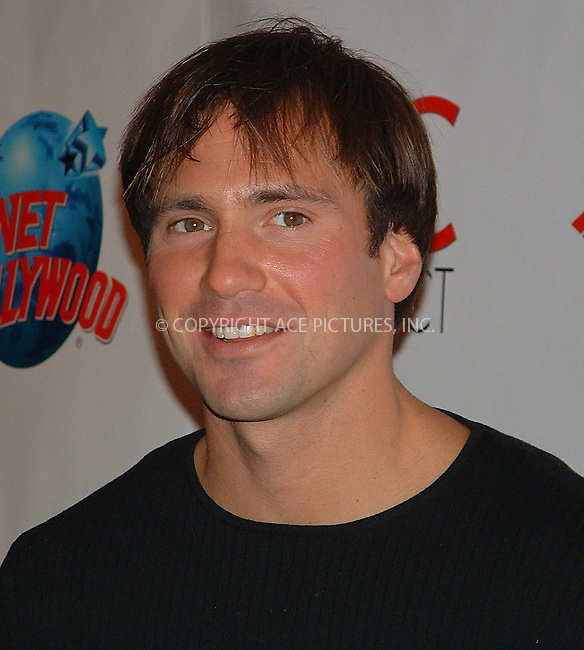 "Eric Nies of MTV at ""NYC Pet Project"" Planet Hollywood. New York, January 13, 2003. REF: AMUS2099. Please byline: Anthony Moore/NY Photo Press.   ..*PAY-PER-USE*      ....NY Photo Press:  ..phone (646) 267-6913;   ..e-mail: info@nyphotopress.com"