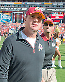 Washington Redskins head coach Jay Gruden leaves the field following his team's 24 - 10 victory over the St. Louis Rams at FedEx Field in Landover, Maryland, Sunday, September 20, 2015.  <br /> Credit: Ron Sachs / CNP