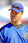 17 March 2007: New York Mets center fielder Carlos Beltran waits to take batting practice prior to facing the Washington Nationals at Tradition Field in Port St. Lucie, Florida...Mandatory Photo Credit: Ed Wolfstein Photo
