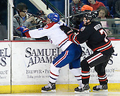 Riley Wetmore (Lowell - 16), Anthony Bitetto (Northeastern - 7) - The visiting Northeastern University Huskies defeated the University of Massachusetts-Lowell River Hawks 3-2 with 14 seconds remaining in overtime on Friday, February 11, 2011, at Tsongas Arena in Lowelll, Massachusetts.