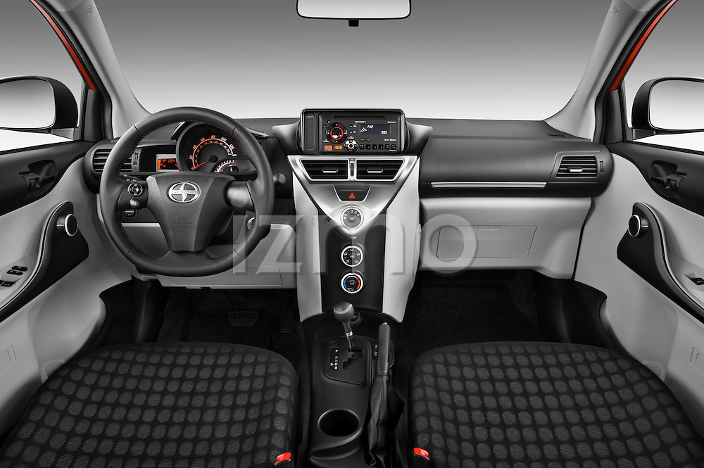 Straight dashboard view of a 2012 Scion IQ