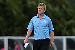 14 August 2015: UNC assistant coach Grant Porter. The University of North Carolina Tar Heels hosted the Winthrop University Eagles at Fetzer Field in Chapel Hill, NC in a 2015 NCAA Division I Men's Soccer preseason exhibition. North Carolina won the game 4-1.
