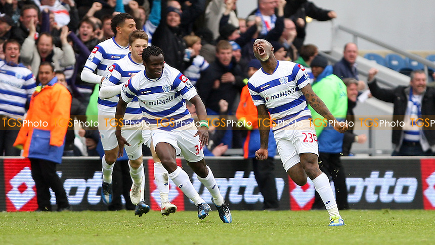 Djibril Cisse celebrates after scoring the winning goal for QPR - Queens Park Rangers vs Stoke City, Barclays Premier League at Loftus Road, London - 06/05/12 - MANDATORY CREDIT: Rob Newell/TGSPHOTO - Self billing applies where appropriate - 0845 094 6026 - contact@tgsphoto.co.uk - NO UNPAID USE.