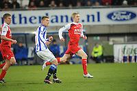 VOETBAL: HEERENVEEN: Abe Lenstra Stadion, 19-02-2011, SC Heerenveen - AZ, Viktor Elm (#7 | SCH), Rasmus Elm (#20 | AZ), Eindstand 0-2, ©foto Martin de Jong