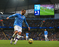 2nd November 2019; Etihad Stadium, Manchester, Lancashire, England; English Premier League Football, Manchester City versus Southampton; Bernardo Silva of Manchester City controls the ball before crossing into the box  - Strictly Editorial Use Only. No use with unauthorized audio, video, data, fixture lists, club/league logos or 'live' services. Online in-match use limited to 120 images, no video emulation. No use in betting, games or single club/league/player publications
