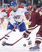 Elias Godoy, Brian Boyle - The University of Massachusetts-Lowell River Hawks defeated the Boston College Eagles 6-3 on Saturday, February 25, 2006, at the Paul E. Tsongas Arena in Lowell, MA.