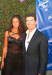"Simon Cowell and terri Seymour..at the finals of the second series of ""American Idol' at Universal Amphitheatre."