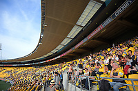 A general view of the gradnstand before the Super Rugby match between the Hurricanes and Sharks at Sky Stadium in Wellington, New Zealand on Saturday, 15 February 2020. Photo: Dave Lintott / lintottphoto.co.nz