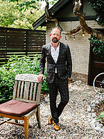 Author and former pro cyclist Jonathan James Vaughters at his Denver, Colorado home Thursday, June 27, 2019. is an American former professional racing cyclist and current manager of the EF Education First Pro Cycling professional cycling team.<br />  <br /> Photo by Matt Nager