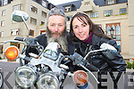 Newlyweds Seamus and Catriona Morrissey Beaufort at the Brehon Hotel on Sunday to officially launch the Harley Davidson rally which will be held in Killarney in June.   Copyright Kerry's Eye 2008