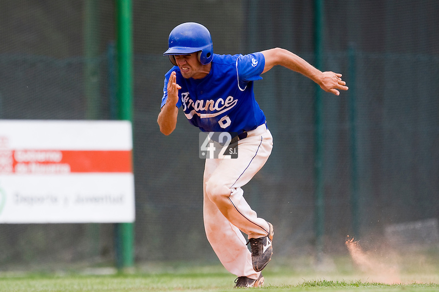 BASEBALL - EUROPEAN UNDER -21 CHAMPIONSHIP - PAMPELUNE (ESP) - 03 TO 07/09/2008 - PHOTO : CHRISTOPHE ELISE .BELGIUM VS FRANCE (WINNER 7-3) - PHILIPPE LECOURIEUX (FRANCE)