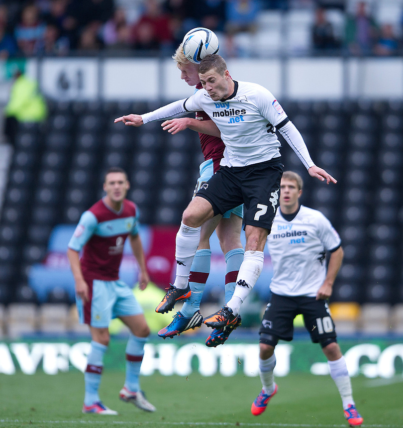 Derby County's Paul Coutts ..Football - npower Football League Championship - Derby County v Burnley - Saturday 22nd September 2012 - Pride Park - Derby..