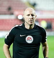 Referee Andy Davies seen prior to the Sky Bet Championship match between Brentford and Derby County at Griffin Park, London, England on 26 September 2017. Photo by Carlton Myrie / PRiME Media Images.