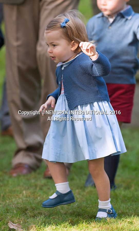 PRINCESS CHARLOTTE<br /> The daughter of the Duke and Duchess of Cambridge will be 2-years-old on the 2nd of May 2017.<br /> These images are a retrospective from birth to the present, showing the Princess on the rare public appearances.<br /> <br /> 29.09.2016; Victoria, Canada: PRINCESS CHARLOTTE'S FIRST STEPS<br /> unaided in public.<br /> Princess Charlotte and brother Prince George were attending a children&iacute;s party for military families, Government House, Victoria<br /> Prince George and Princess Charlotte are accompaning their parents the Duke and Duchess of Cambridge on their tour of Canada.<br /> Mandatory Photo Credit: &copy;Francis Dias/NEWSPIX INTERNATIONAL<br /> <br /> IMMEDIATE CONFIRMATION OF USAGE REQUIRED:<br /> Newspix International, 31 Chinnery Hill, Bishop's Stortford, ENGLAND CM23 3PS<br /> Tel:+441279 324672  ; Fax: +441279656877<br /> Mobile:  07775681153<br /> e-mail: info@newspixinternational.co.uk<br /> Usage Implies Acceptance of Our Terms &amp; Conditions<br /> Please refer to usage terms. All Fees Payable To Newspix International
