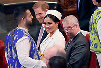 11 March 2019 - London, England - Prince Harry Duke of Sussex, Meghan Markle Duchess of Sussex, Prince Andrew Duke of York during a Commonwealth Day Service held at Westminster Abbey. Photo Credit: ALPR/AdMedia