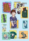 Interlitho, Nino, TEENAGERS, paintings, punkboy(KL3901,#J#) Jugendliche, jóvenes, illustrations, pinturas ,everyday