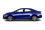 Car Driver side profile view of a 2017 Toyota Corolla XSE-AT 4 Door Sedan Side View