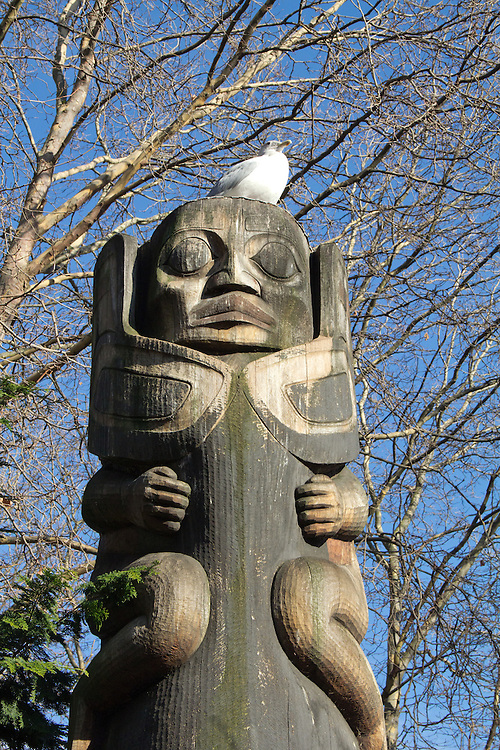 Seattle, Pioneer Square, Occidental Park, totem poles, Duane Pasco, native wood carver, urban art, Washington State, Pacific Northwest,