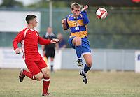 Kevin Neville in action for Romford - Romford vs Aveley - Pre-Season Friendly Match at Mill Field, Aveley FC - 31/07/10 - MANDATORY CREDIT: Gavin Ellis/TGSPHOTO - Self billing applies where appropriate - Tel: 0845 094 6026