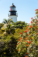 US, Florida, Key West. The Lighthouse seen from Ernest Hemingway Home.