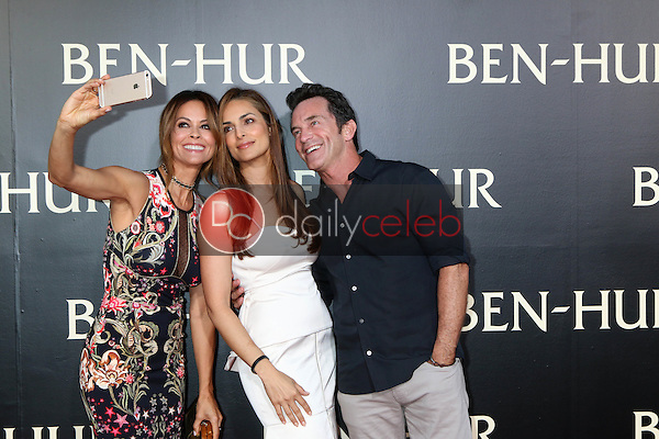 Brooke Burke-Charvet, Lisa Ann Russell, Jeff Probst<br /> at the &quot;Ben-Hur&quot; Premiere, TCL Chinese Theater IMAX. Hollywood, CA 08-16-16<br /> David Edwards/DailyCeleb.com 818-249-4998