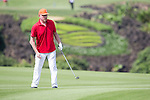 Boris Becker plays during the World Celebrity Pro-Am 2016 Mission Hills China Golf Tournament on 22 October 2016, in Haikou, China. Photo by Victor Fraile / Power Sport Images