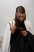 Noon By Noor 8/02/2018<br /> Backstage New York Fashion Week <br /> <br /> New York Fashion Week,  New York, USA in February 2018.<br /> CAP/GOL<br /> &copy;GOL/Capital Pictures