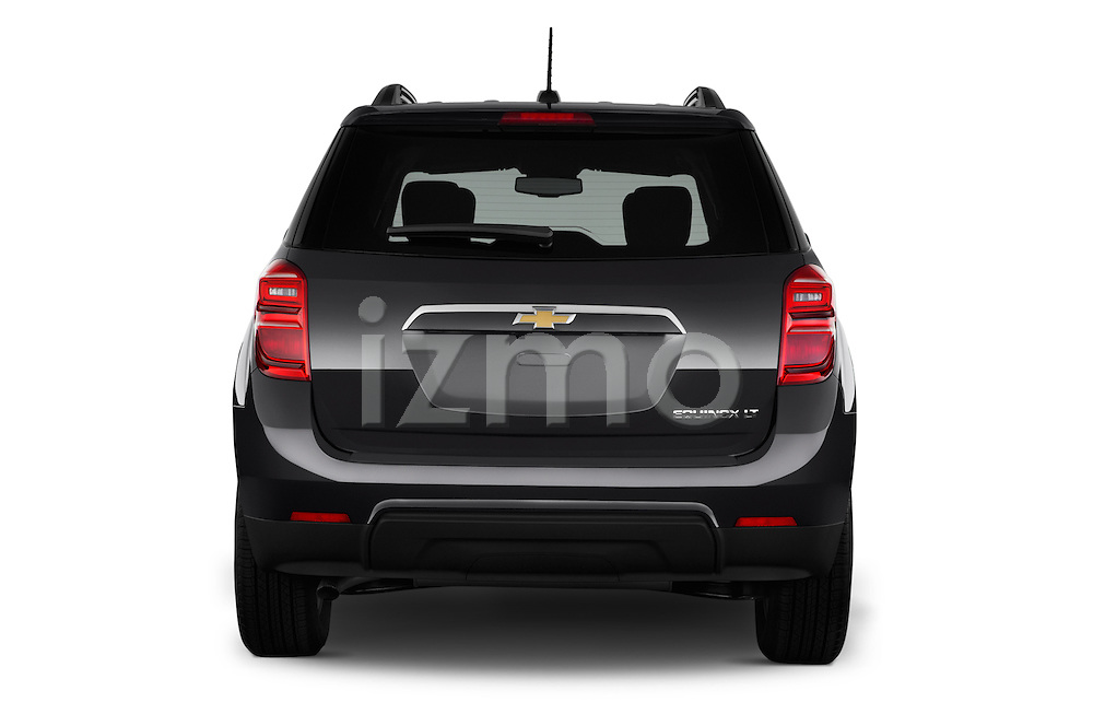Straight rear view of 2016 Chevrolet Equinox LT 5 Door Suv Rear View  stock images