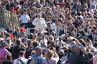 Pope Francis,  Mass for the opening of a synod,a meeting of bishops in St. Peter's Square, at the Vatican, Wednesday, October. 3, 2018.