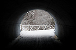 Light at the end of the tunnel, actually a ski trail in upstate NY.
