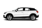 Car driver side profile view of a 2017 Audi Q2 Sport 5 Door SUV